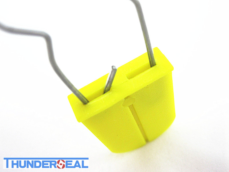 Plastic Padlock seal with metal locking