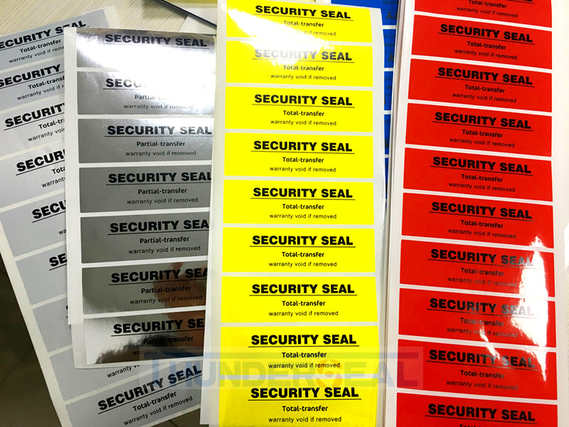 Security tamper evident tapes