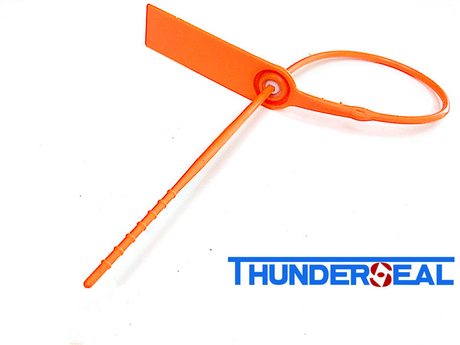 Round tail plastic strap seal with high strength